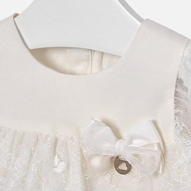 3b1cc1a9dff2 Φόρεμα δαντέλα baby κορίτσι Εκρού - Mayoral