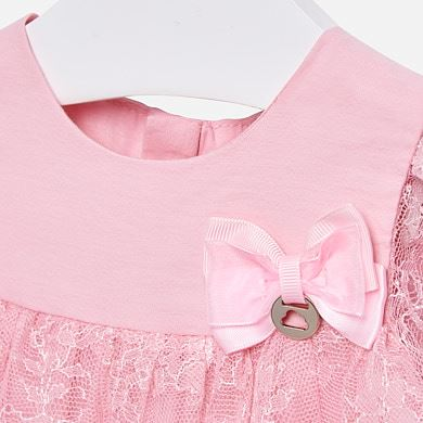 6e9aff4058f5 Φόρεμα δαντέλα baby κορίτσι Ροζ - Mayoral