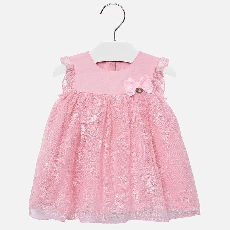 4daf06ed3ef83 Robe dentelle bébé fille Rose - Mayoral