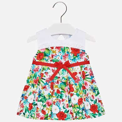 Floral dress with belt for baby girl e7d155eab01ee