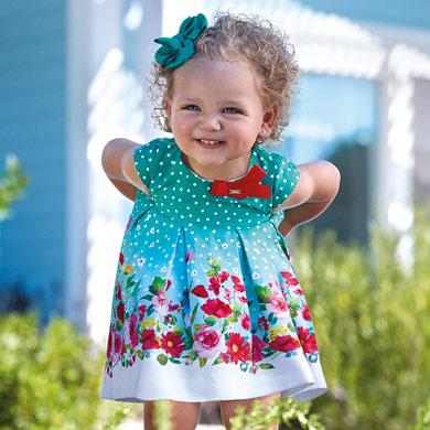 Sleeveless polka dot dress for baby girl 7319f33cd7b23