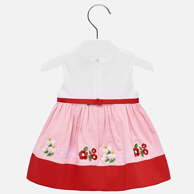 a1bca8384 Embroidered hem dress for baby girl Rojo - Mayoral
