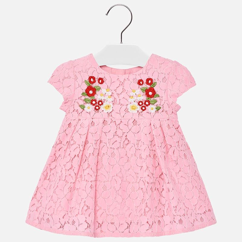 c29119f2b Embroidered lace dress for baby girl Pink - Mayoral