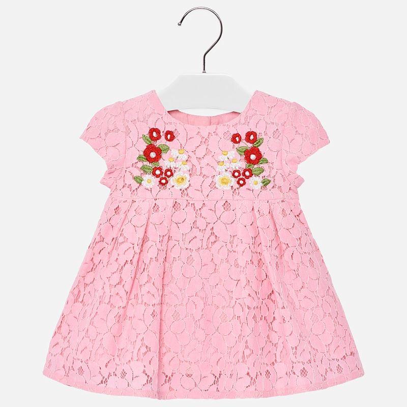 13d7e86c5cc9 Φόρεμα δαντέλα κέντημα baby κορίτσι Ροζ - Mayoral