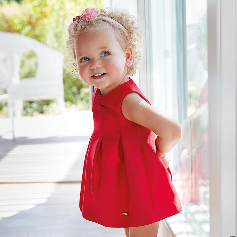 Satin Bébé Mayoral Robe Rouge Fille xtChQdsrB