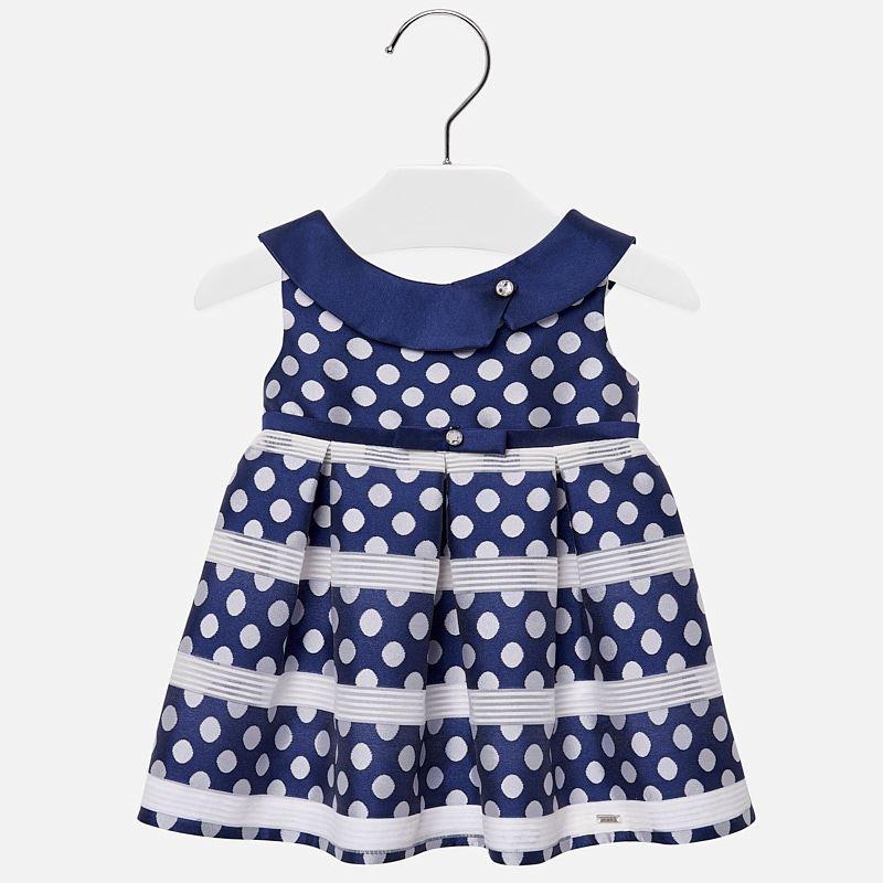 d905eb414 Polka dot dress for baby girl Navy blue - Mayoral