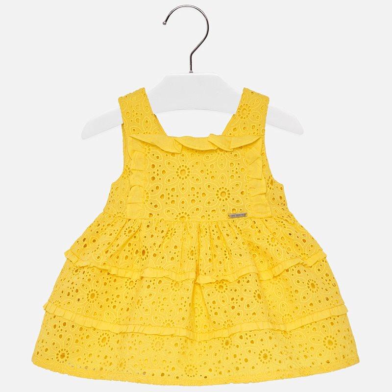 595729dc6 Vestido tirantes calado bebé niña Amarillo - Mayoral