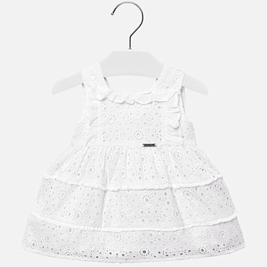 e9e76bcc0 Sleeveless openwork dress for baby girl White - Mayoral