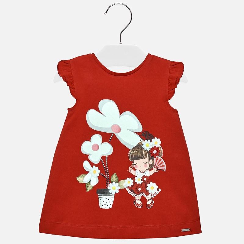 Dibujo Niña Mayoral Vestido Rojo Bebé XiTOwZPku