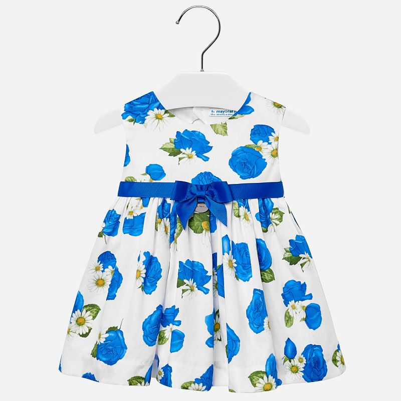 be58c23fc91 Φόρεμα τριαντάφυλλα με ζωνάκι baby κορίτσι Μπλε - Mayoral
