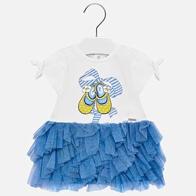 Vestido falda volantes tul bebé niña Añil - Mayoral 6b155dce8300