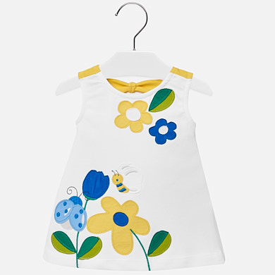 399ed7b00 Vestido tirantes apliques bebé niña