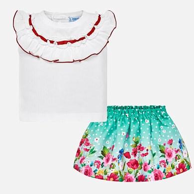 Conjunto camiseta y falda cenefa bebé niña 58b47c5be3b2