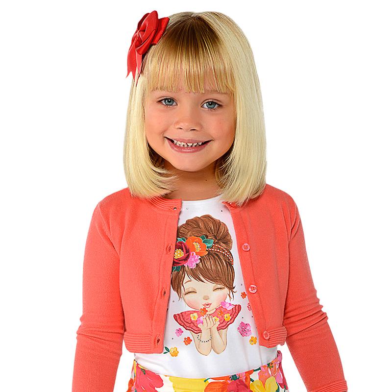 bf5458936 Camiseta manga corta muñeca niña Blanco-Coral - Mayoral