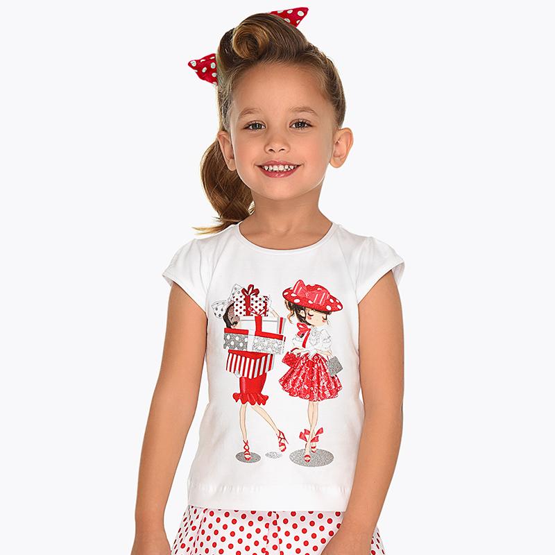 5b066a50940 Μπλούζα κοντομάνικη κορίτσι Κόκκινο - Mayoral