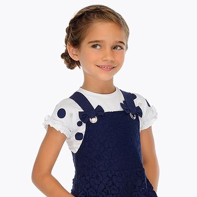 5db24f923 Camiseta manga corta lunares niña