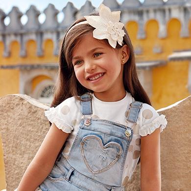 Camiseta manga corta lunares niña e34c181ce142