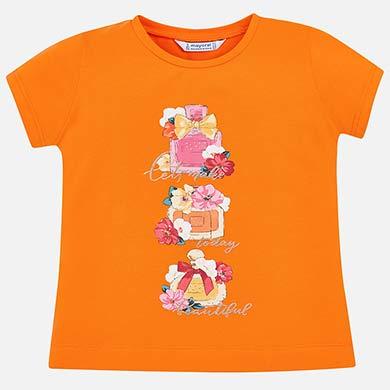f2b5574ee Camiseta manga corta dibujo niña