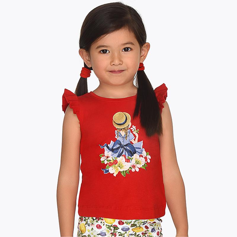 2ed04656ce73 Μπλούζα τιράντες κορίτσι Κόκκινο - Mayoral