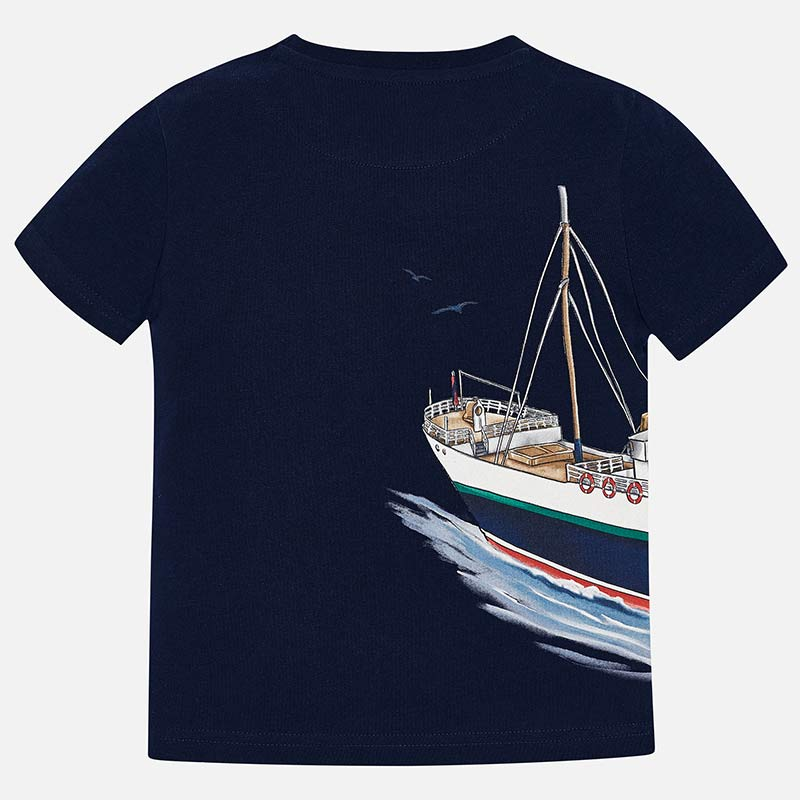 d66839916e Short sleeved boats t-shirt for boy Navy blue - Mayoral