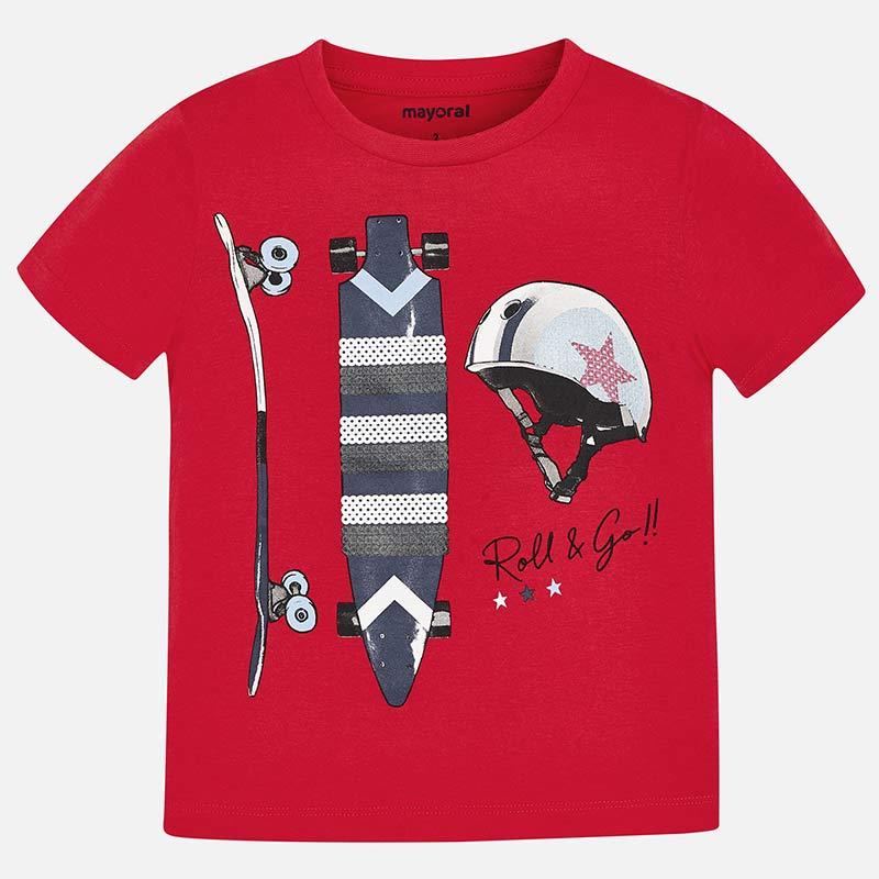 Camiseta manga corta skate niño Rojo - Mayoral aa310a2ffb4