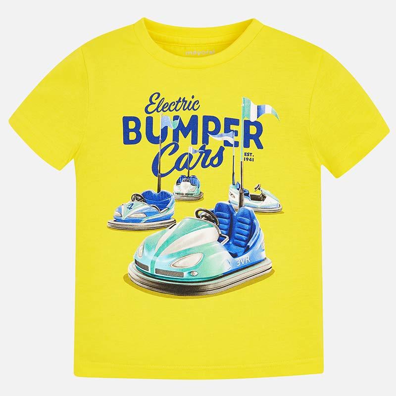 05362b80b44b Μπλούζα κοντομάνικη Bumper Cars αγόρι Μπανάνα - Mayoral