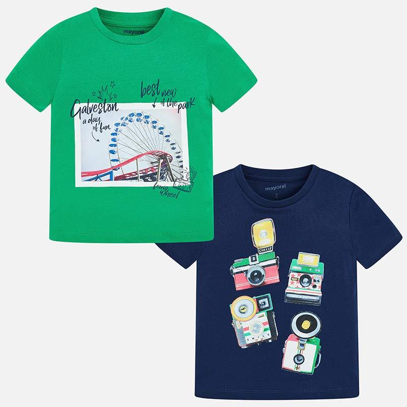 Σετ μπλούζες κοντομάνικες αγόρι Πράσινο - Mayoral e3d52879952