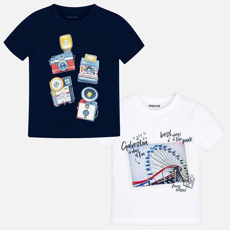 Σετ μπλούζες κοντομάνικες αγόρι Λευκό - Mayoral 12019b7facb