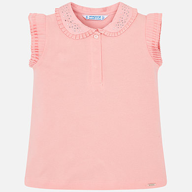 f4bb85bd8 Sleeveless polo shirt with detailing for girl White - Mayoral