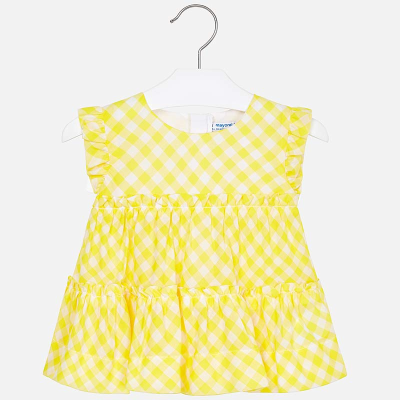 2a9ae4a5390c3a Sleeveless gingham blouse for girl Yellow - Mayoral