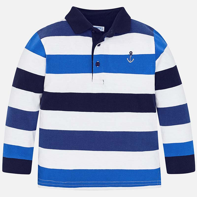 e49807c4 Long sleeved block stripes polo shirt for boy Pacific - Mayoral