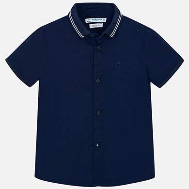 0164f2eba Camisa manga corta lisa niño