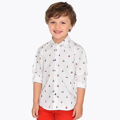 24437c767 Camisa manga larga estampada niño