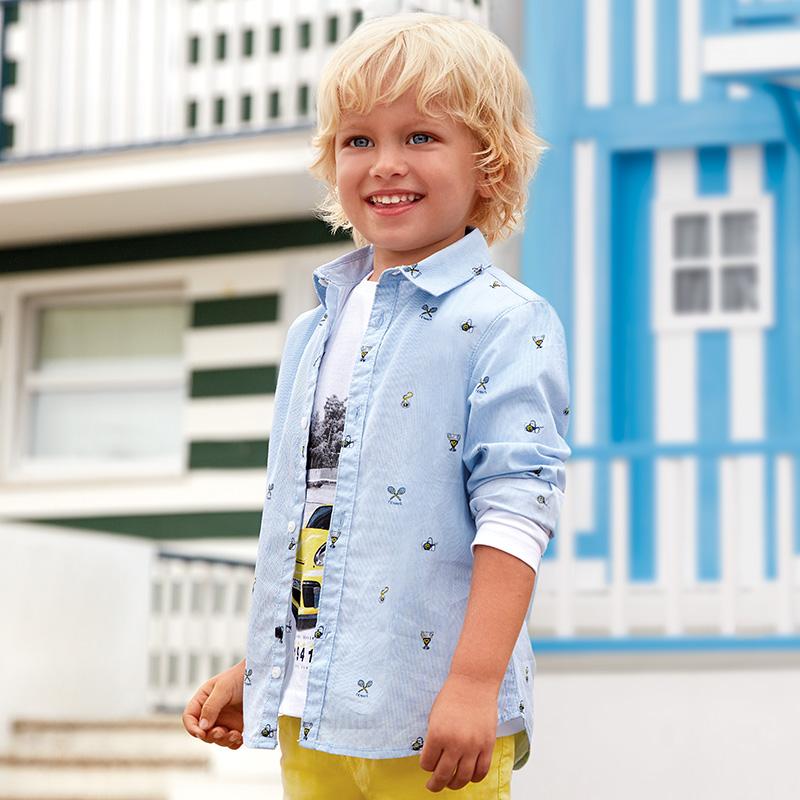 f3f427ffa Camisa manga larga estampada niño Estampado tenis - Mayoral