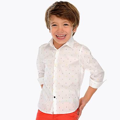3354bc854 Camisa manga larga estampada niño