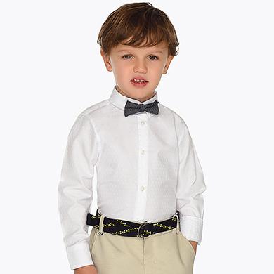 12fe548a6 Camisa manga larga con pajarita niño