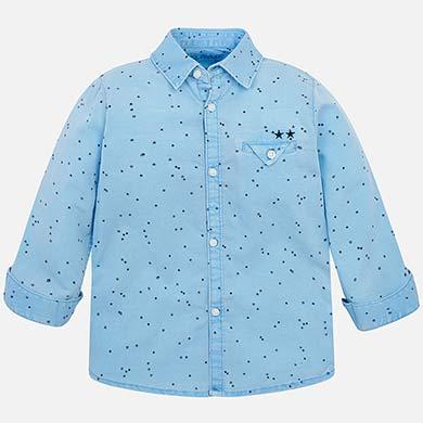 6906a745842 Camisa manga larga lino estampado niño Cristal - Mayoral