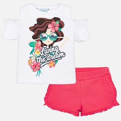 Conjunto camiseta y shorts muñeca niña dd8bff1b1c77