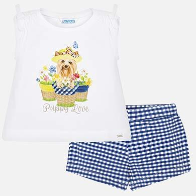 c83825b6e Conjunto camiseta y shorts vichy niña