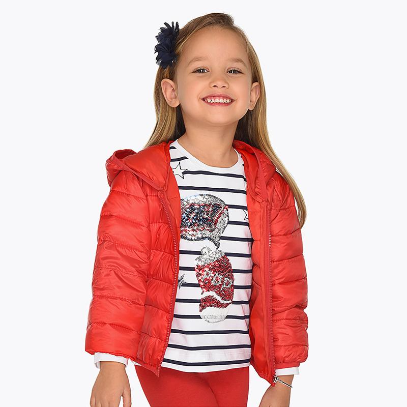 6719a8516 Chaqueta cortavientos acolchada niña Rojo - Mayoral