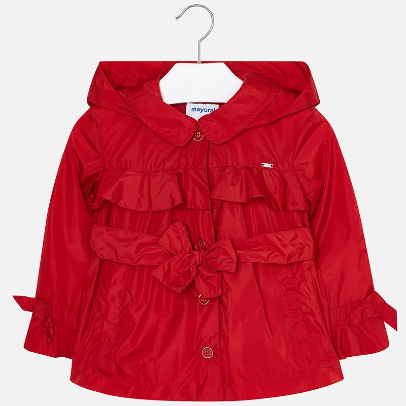 Chaqueta tipo gabardina niña Rojo - Mayoral a038ccb518e1