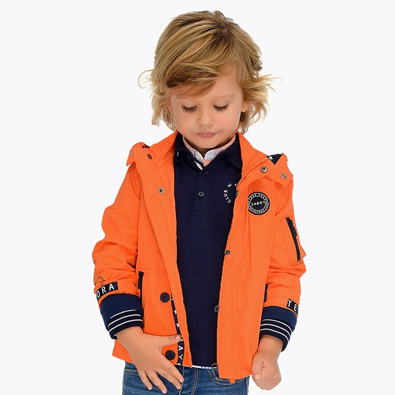 2191b35b2668 Nautical windbreaker jacket for boy Passion fruit - Mayoral