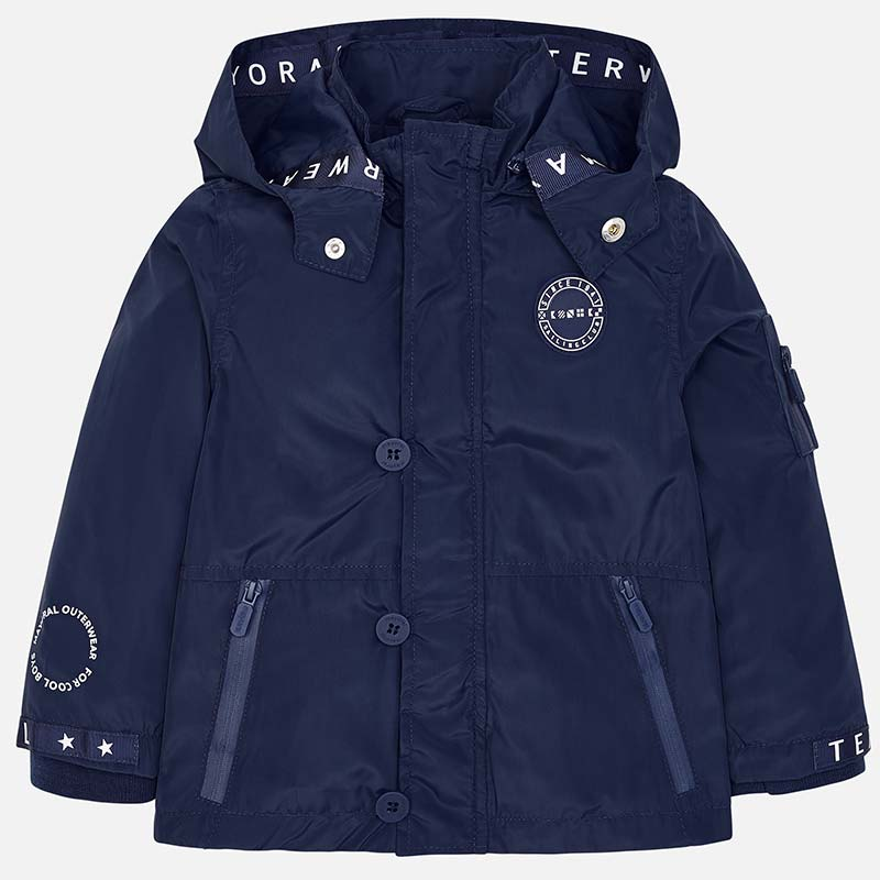 5a7db1b454bf Nautical windbreaker jacket for boy Navy blue - Mayoral
