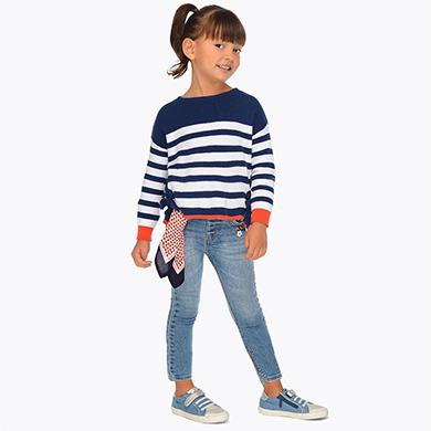 Παντελόνι τζιν μακρύ μαντήλι κορίτσι 60e5c1a3cad