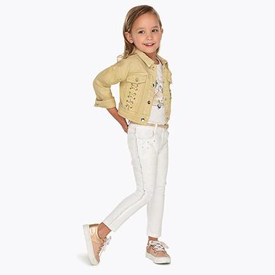 Pantalón largo detalles niña Crudo - Mayoral e2946ab5b168