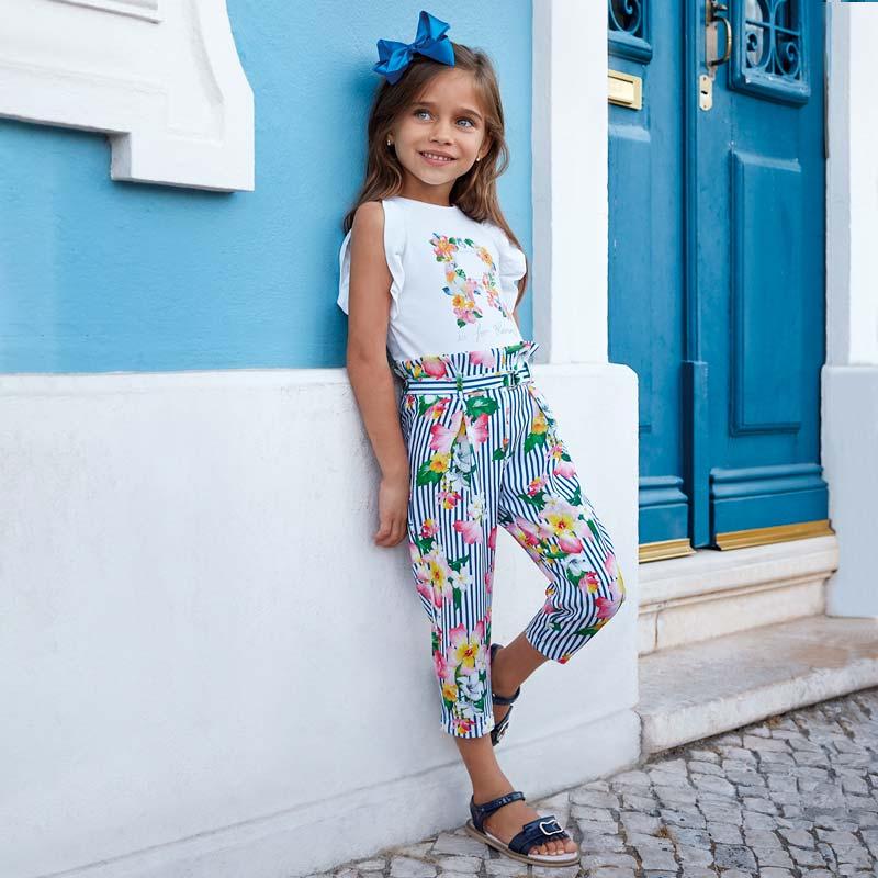 Pantalón largo flores niña Naútico - Mayoral 58c602a23f08