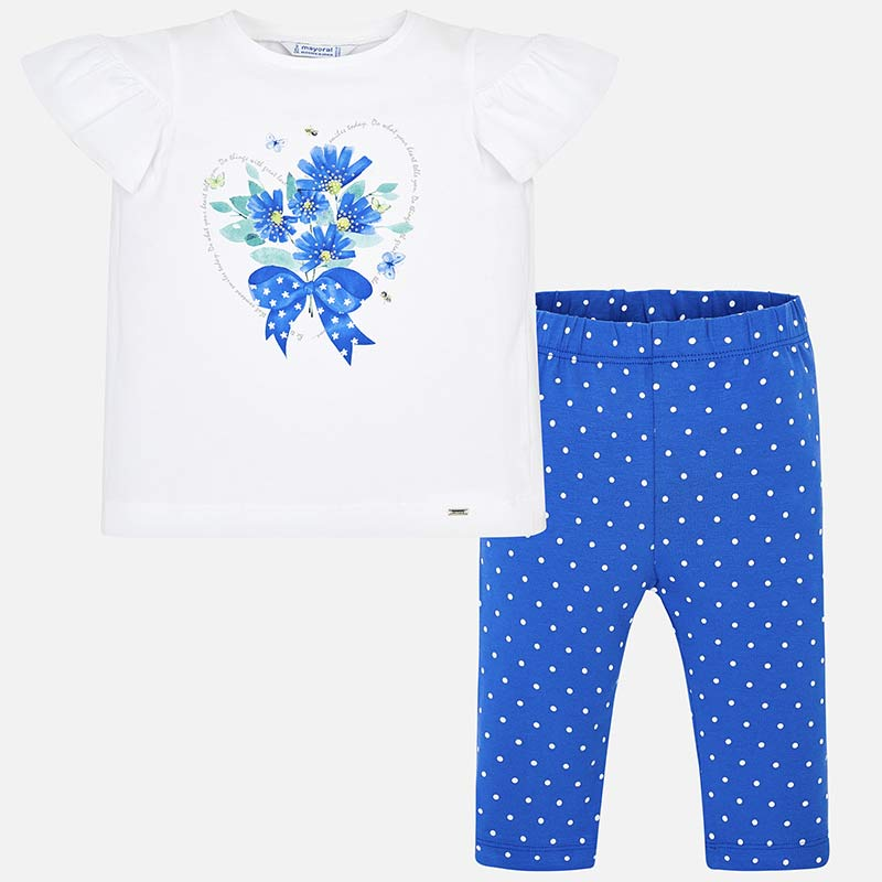 7f0118b411c Σετ μπλούζα και κολάν κοντό σταμπωτό κορίτσι Μπλε - Mayoral