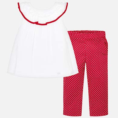 18ca0a1fc4 T-shirt and polka dot trousers set for girl
