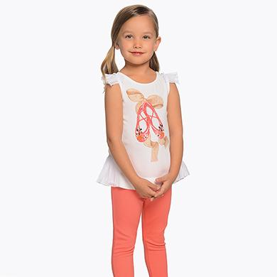 47d41e3de Conjunto camiseta y pantalón largo ballet niña