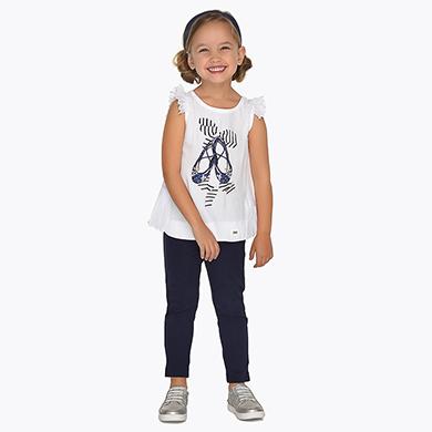 6b9b2678b Conjunto camiseta y pantalón largo ballet niña